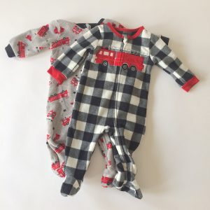 Absorba Footed Pajamas with Firetruck Theme