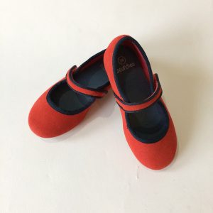 Bout' Chou Red Faux-suede Shoes