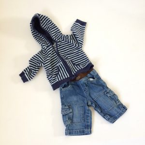 Faded Glory Hoodie and Baby Gap Jeans 3-6M