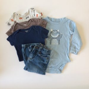 Four One-pieces With Jeans