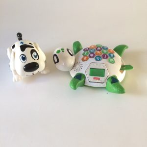 Interactive Puppy and Fisher-Price Spell & Speak Turtle