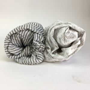 Grey and White Crib Sheet Pair