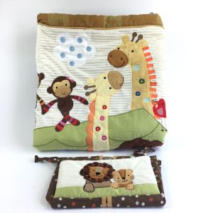 Lambs & Ivy Crib Bedspread and Diaper Stacker