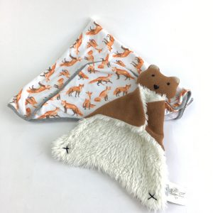 Playful Fox Hooded Towel and Toy