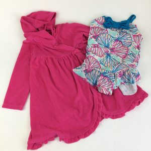 Gymboree Sweet Shells Swimsuit and Matching Coverup Size 4