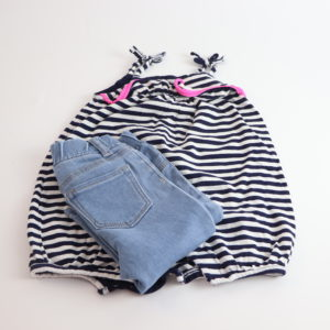 Baby Gap Romper and Jeans Size 6-12M