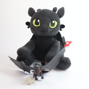 Build-a-Bear Toothless Plush and Deluxe Action Figure