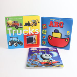 Trucks and Trains Board Book Set