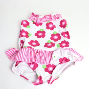 Floral Swimsuit Size 6-12M