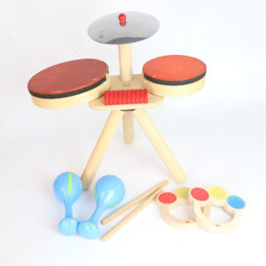 PlanToys Musical Band and Hape Rattles